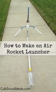 Rockets that are launched using this air rocket launcher go FLYING into the sky!