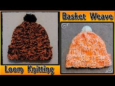 Loom Knit a Basket Weave Hat for Beginners - YouTube