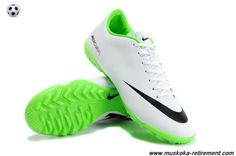 (White Black) Nike Mercurial Vapor IX TF Reflective