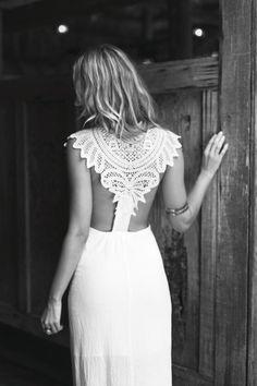 boho lace back maxi dress