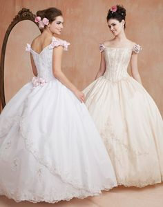 Quinceanera Dresses, Quinceanera Gowns - Light, Pastel Colors - Mis Quince Mag. Would be a beautiful wedding dress.