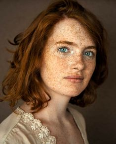 lesbian head Freckled red