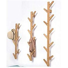 Amazon Fr, Triangle, Hall Way Decor, Coat Hanger, Wall Coat Rack, Hat, Home Kitchens, Bamboo, Towels