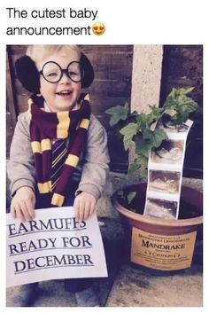 Baby 2 Announcement, Cute Baby Announcements, Pregnancy Announcement Harry Potter, Harry Potter Nursery, Harry Potter Baby Shower, Future Mom, Second Baby, Everything Baby, Baby Time