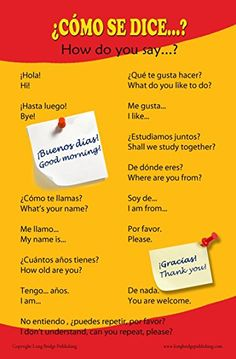 Spanish Language School Poster - Common greetings and phrases- Wall chart for home and classroom