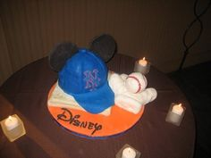 Odd mix: Mets/Disney cake
