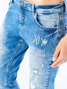 Jeansy z licznymi przetarciami AFTER HOURS, MOHITO, PY223-05J