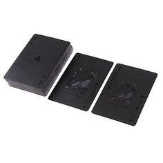 Jili Online 54Pcs Deck Poker Waterproof Plastic PVC Set Magic Playing Cards Cool Black for Texas Hold'em Game #1. #Jili #Online #Deck #Poker #Waterproof #Plastic #Magic #Playing #Cards #Cool #Black #Texas #Hold'em #Game