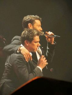 Il Divo's David and Urs in concert.