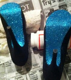 If I wore heels id totally do this. #Glitter