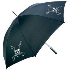 "Amazon.com : 60"" Blk Umbrella W/skull Logo - Style GFUMSKL : Patio, Lawn & Garden"