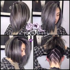 An icy silver transformation and haircut for cutie 💙💙 Mary 💙💙 Undercut Styles, Undercut Women, Female Undercut, On Today, Unique Hairstyles, Summer Trends, Silver Hair, Hair Designs, Bob Cut