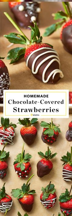 How to Make Homemade Chocolate Covered Strawberries. Looking for ideas and recipes for romantic food for Valentine's Day or a romantic date night in? Show your valentine some love with these diy desserts and sweet treats.