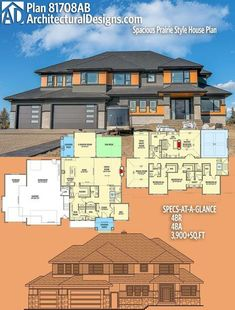 Architectural Designs House Plan 81708AB. 4BR   3.5BA   3,900+SQ.FT. Ready when you are. Where do YOU want to build? #81708ab #adhouseplans #architecturaldesigns #houseplan #architecture #newhome #newconstruction #newhouse #homedesign #dreamhome #dreamhouse #homeplan #architecture #architect #housearchitecture
