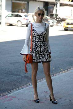 On the street at New York Fashion Week. Photo: Emily Malan/Fashionista.