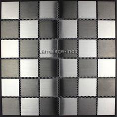mosaique inox carrelage inox pour cuisine et salle de bain