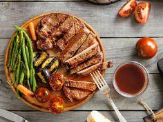 Barbecued Pork Steak