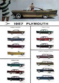 1957 Plymouths- mine is a belvedere 4 door sedan