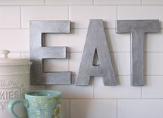 Zinc Inspired Letters and other knock-off tutorials
