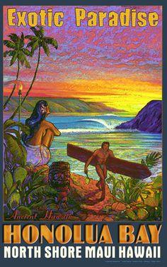 Hawaii Honolua Bay Surf Maui Rick Sharp