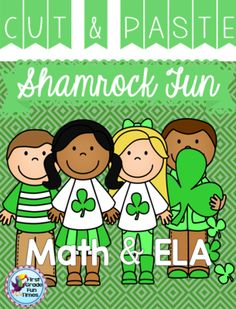 First Grade Fun Times from Shamrock Cut and Paste on TeachersNotebook.com - (58 pages) - 50+ cut and glue activities covering many first grade math and ELA skills