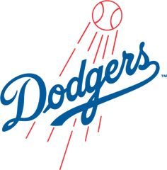 Los Angeles Dodgers Primary Logo (1958) - Dodgers script with shooting baseball