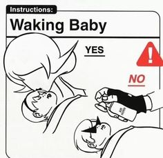 mom, rose, bro, dave, baby, babies, air, horn, do, don't, waking, instructions