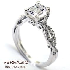 emerald cut emerald and diamond ring | ... diamond center. Here is an example with an emerald-cut diamond