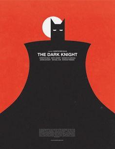 The Dark Knight ~ Minimal Movie Poster by Olly Moss Famous Movie Posters, Marvel Movie Posters, Batman Poster, Batman Art, Cool Posters, Film Posters, Marvel Movies, Superhero Poster, Design Posters