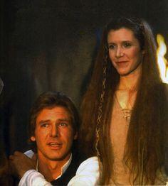 *HAN SOLO (Harrison Ford) & PRINCESS LIEA ORGANA (Carrie Fisher) ~ STAR WARS: