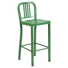 Flash Furniture Navy 30 in. Metal Bar Stool - Kitchen, dining room, home bar area - whichever space could use a colorful upgrade, the Flash Furniture Navy 30 in. Bar Stool is all ready...