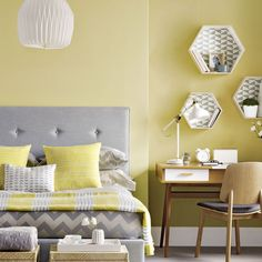 Sunny yellow bedroom