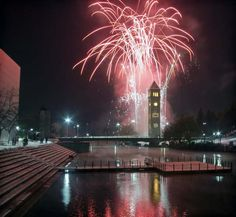 Fireworks at the clock tower.