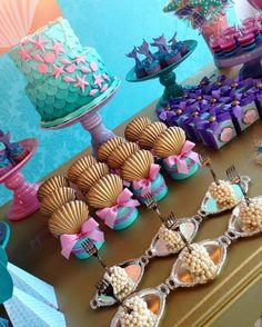 47 Ideas for baby shower ideas mermaid theme Mermaid Birthday Cakes, Little Mermaid Birthday, Little Mermaid Parties, Mermaid Cupcakes, First Birthday Parties, Birthday Party Decorations, 3rd Birthday, Birthday Ideas, Idee Baby Shower