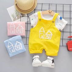 Baby Kids Boy Girl Summer Outfits Toddler Tops T-Shirt Pant Shorts Tracksuit Set Girls Summer Outfits, Baby Outfits, Summer Girls, Toddler Outfits, Kids Outfits, Toddler Sports, Baby Jeans, Tracksuit Set, Princess Outfits