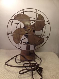 Vintage Kenmore Metal Table Fan 1950's -The fan me asures 11inches high and the fan cage is 8 inches diameter. by MidCenturyAmericana on Etsy