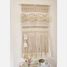 Little video of Remanso just before it got posted out to Canada loom videos Remanso Weaving Loom Diy, Weaving Art, Tapestry Weaving, Hand Weaving, Macrame Wall Hanging Diy, Weaving Wall Hanging, Crochet Wall Hangings, Macrame Patterns, Weaving Patterns
