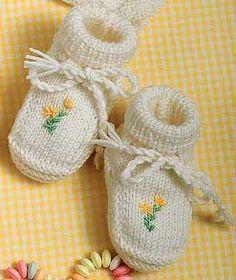 Scarpine neonato ricamate