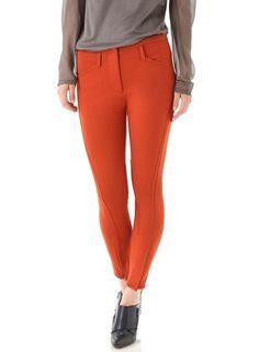 3.1 Phillip Lim Cropped Jodhpur Trousers - LoLoBu  Orange Dress #2dayslook #sasssjane #OrangeDress  www.2dayslook.com