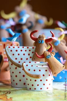 Cute clay cows