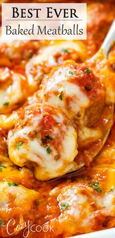 Easy Baked Meatballs, Baked Italian Meatballs, Recipes With Beef Meatballs, Meatball Recipes, Meatballs In Oven, Beef Dishes, Pasta Dishes, Food Dishes, Casserole Recipes