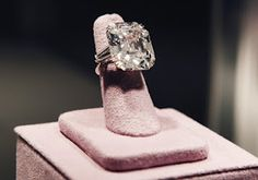Elizabeth Taylor's engagement ring from Richard Burton...33.19 carats.