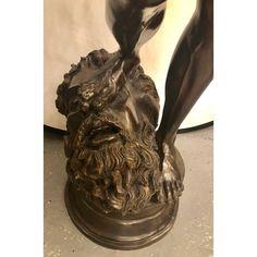 Vintage Life-Sized Bronze of David Slaying Goliath Signed A. Mercier - Image 5 of 13