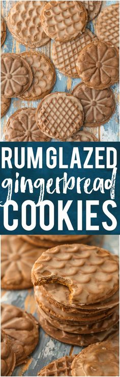 These RUM GLAZED SOFT GINGERBREAD COOKIES are absolutely DELICIOUS and so full of flavor. A touch of sea salt, a dash of pepper; just perfection. Oh so chewy and fabulous for Christmas baking. #cookies #christmas #baking #gingerbread #ottolenghi via @beckygallhardin