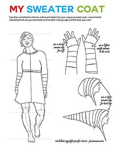 Winter Snowflake Sweater Coat: Notes, Tips, and Photos - Jennifer Maker Old Sweater, Sweater Coats, Recycled Fashion, Recycled Clothing, Coat Patterns, Clothing Patterns, Recycled Sweaters, Boho Sweaters, Crochet Sweaters
