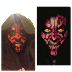 Darth Maul face paint starwars for tutorial comment