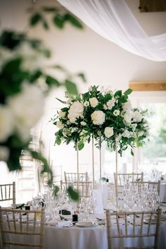 Romantic Wedding Breakfast in the Barn at Cotswold Wedding Venue, Hyde House & Barn Romantic Wedding Colors, Romantic Wedding Receptions, Rustic Wedding Flowers, Romantic Weddings, Green And White Wedding Flowers, Retro Weddings, Cowboy Weddings, Barn Weddings, Outdoor Weddings