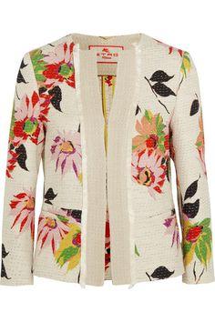 Etro | Floral-print cotton-blend jacket | NET-A-PORTER.COM