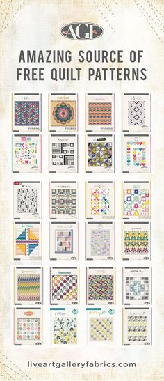 Amazing source of free quilt patterns - Download hundreds of quilt patterns for free on the AGF consumer website!