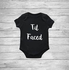 Tit Faced Onesie Baby boy onesie Funny onesie by DaliceDesigns  https://presentbaby.com